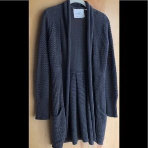 Anthropologie Angel of the North gray cardigan M